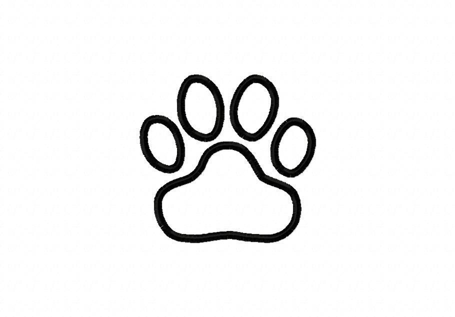 paw print coloring pages - photo#15