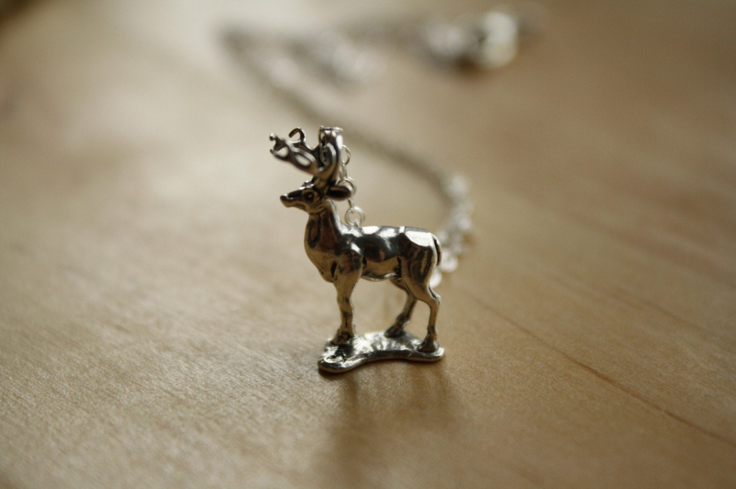 The Sterling Silver Stag Pendant