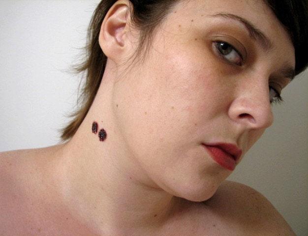 Vampire Bite Temporary Tattoos. From Buttonhead