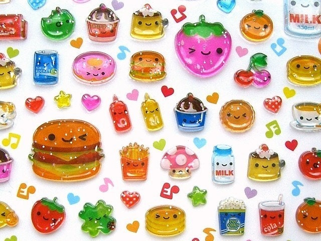 Kawaii Cute Japanese Stickers By Q-LiA Smile Bit (S639 ...
