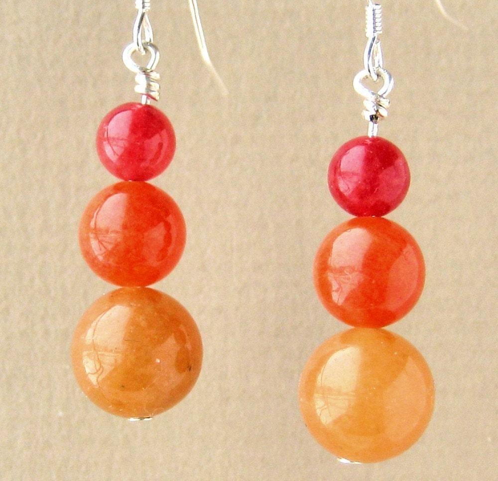 Red Blende Earrings by Jenny Poole