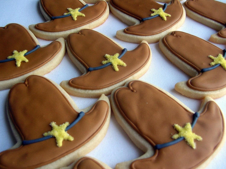 cowboy hat cookies | Bents birthday's!!! | Pinterest