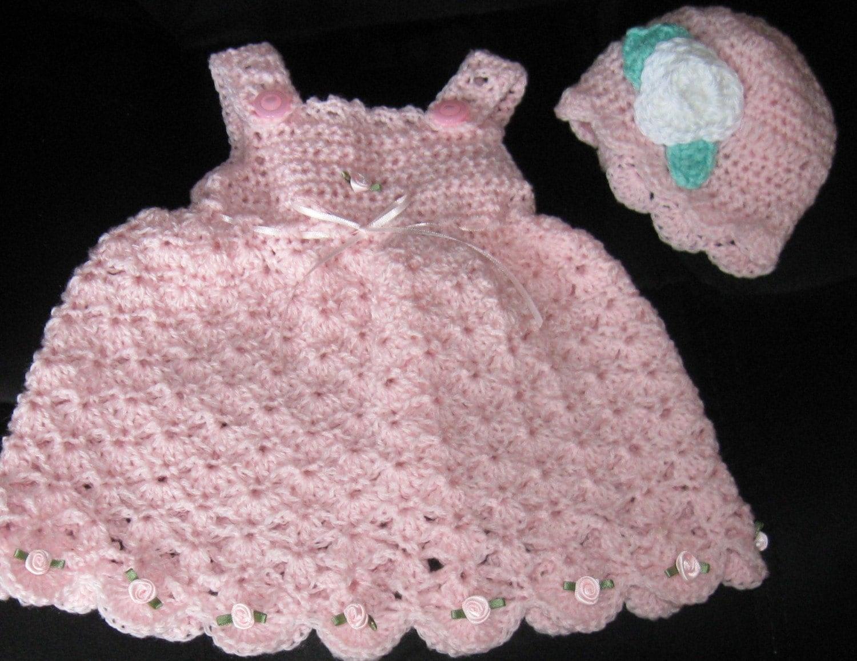 Crochet Baby Frock Pattern : Vestidinhos charmosos em Croche para sua princesinha ...
