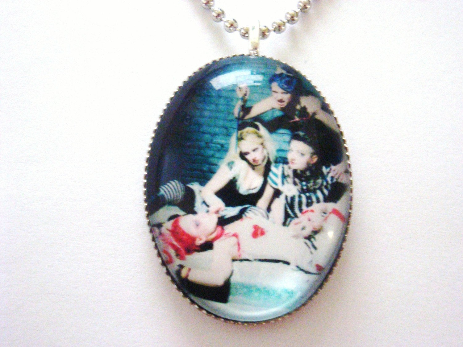 Emilie Autumn Bloody crumpets large bubble pendant necklace free worldwide