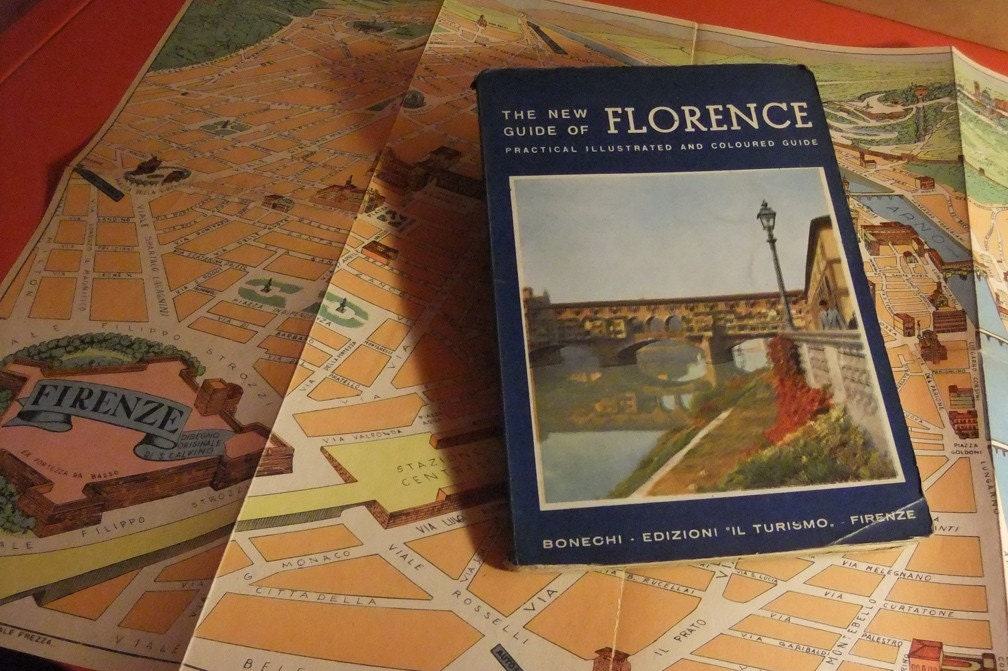 Tourist Map Of Florence. Vintage Map and Tourist Guide to Florence- 1962. From VincentDrives