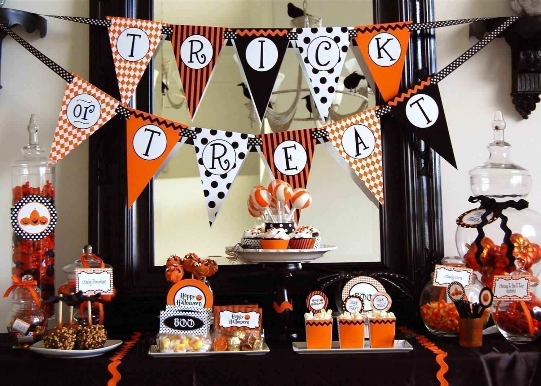 Halloween Trick or Treat Printable Party - DIY, BIG SALE etsy handmade