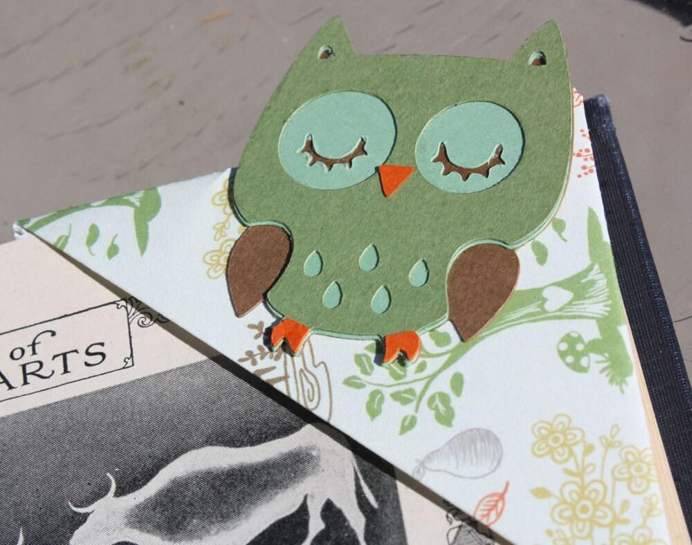 Origami Owl Bookmark : 折り紙でしおりの作り方 : すべての折り紙