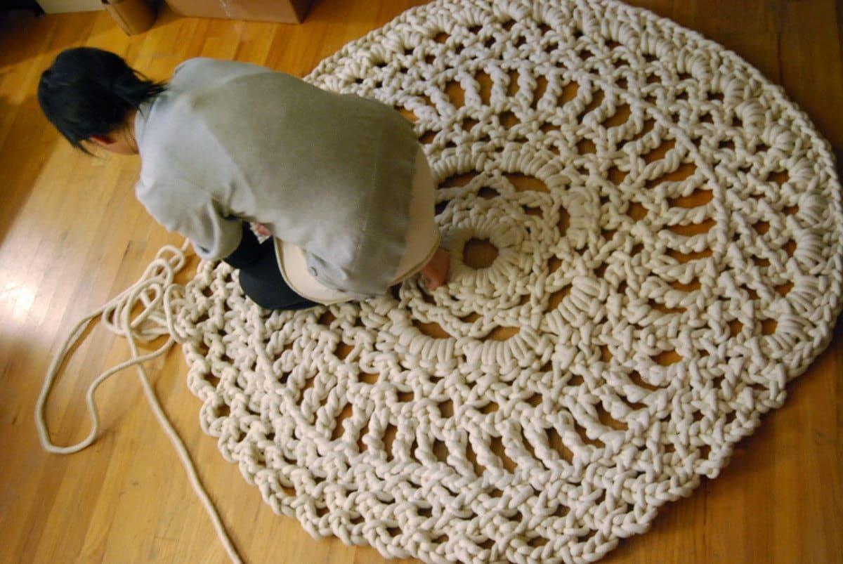 آموزش بافت فرش با کاموا