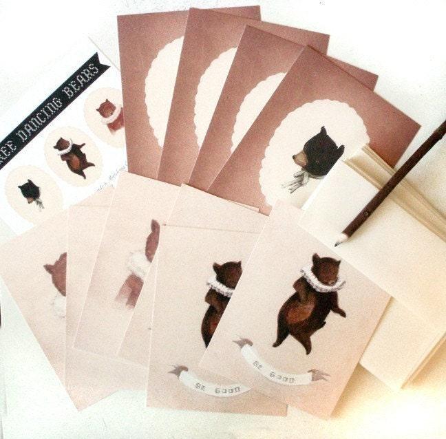 Dancing Bear Postcard Pack