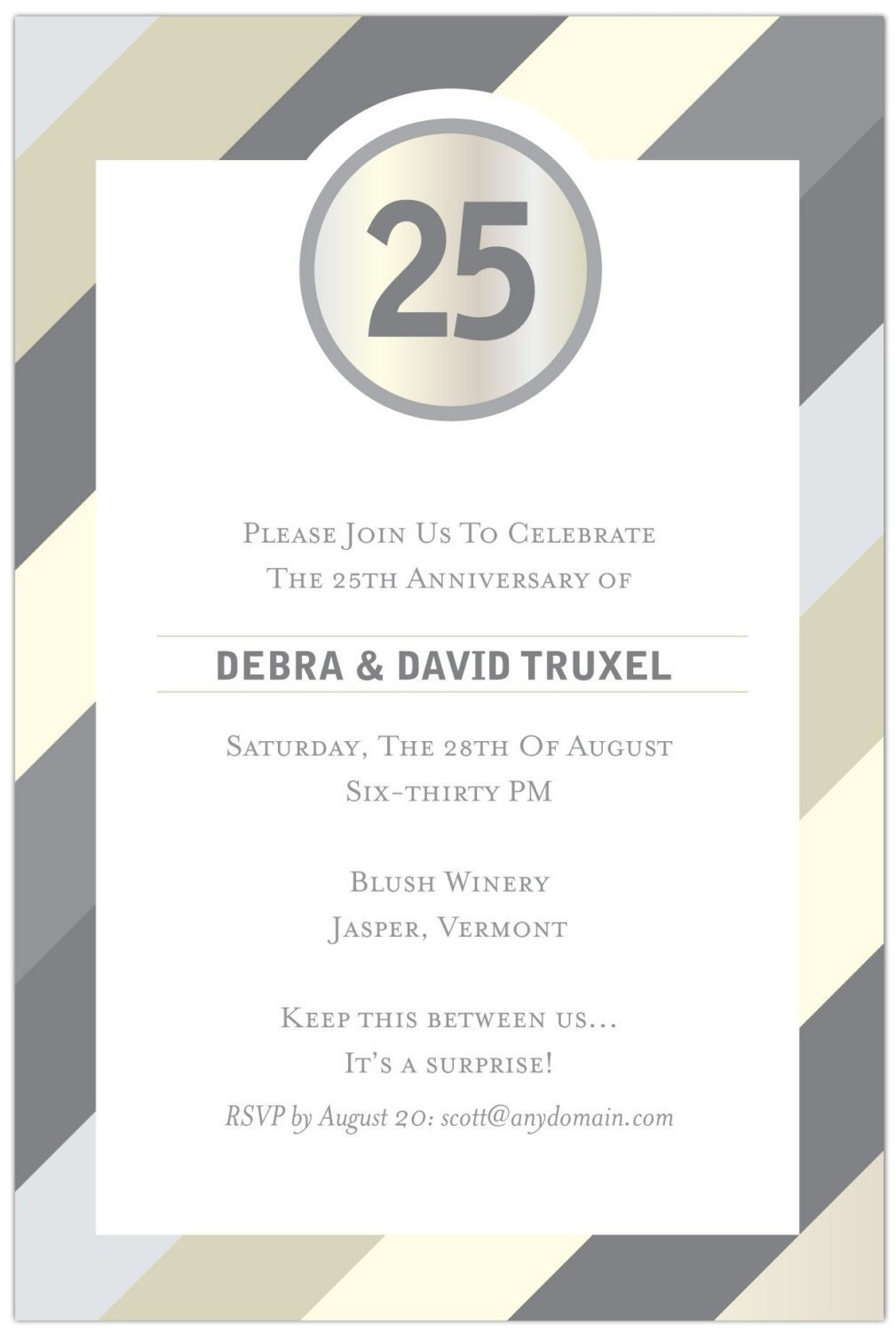 Anniversary party invitation wording funny cool 25th anniversary