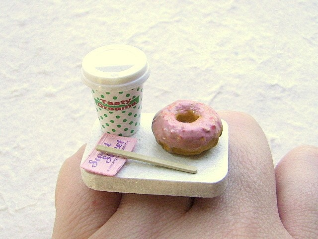 Coffee And A Doughnut To Go PINK SUGAR