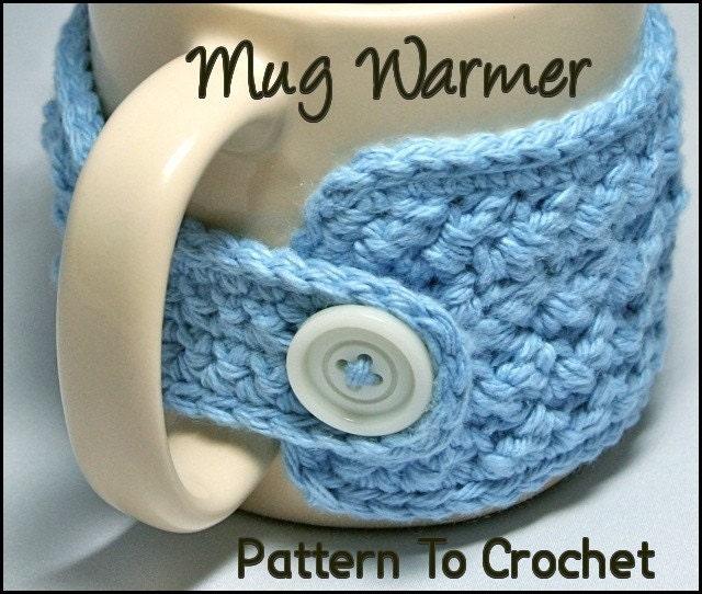Mug Warmer Crochet Pattern PDF Wrap Style With by OlliesBoutique