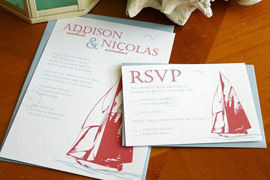Nautical Wedding Invitations abloggingbridecom