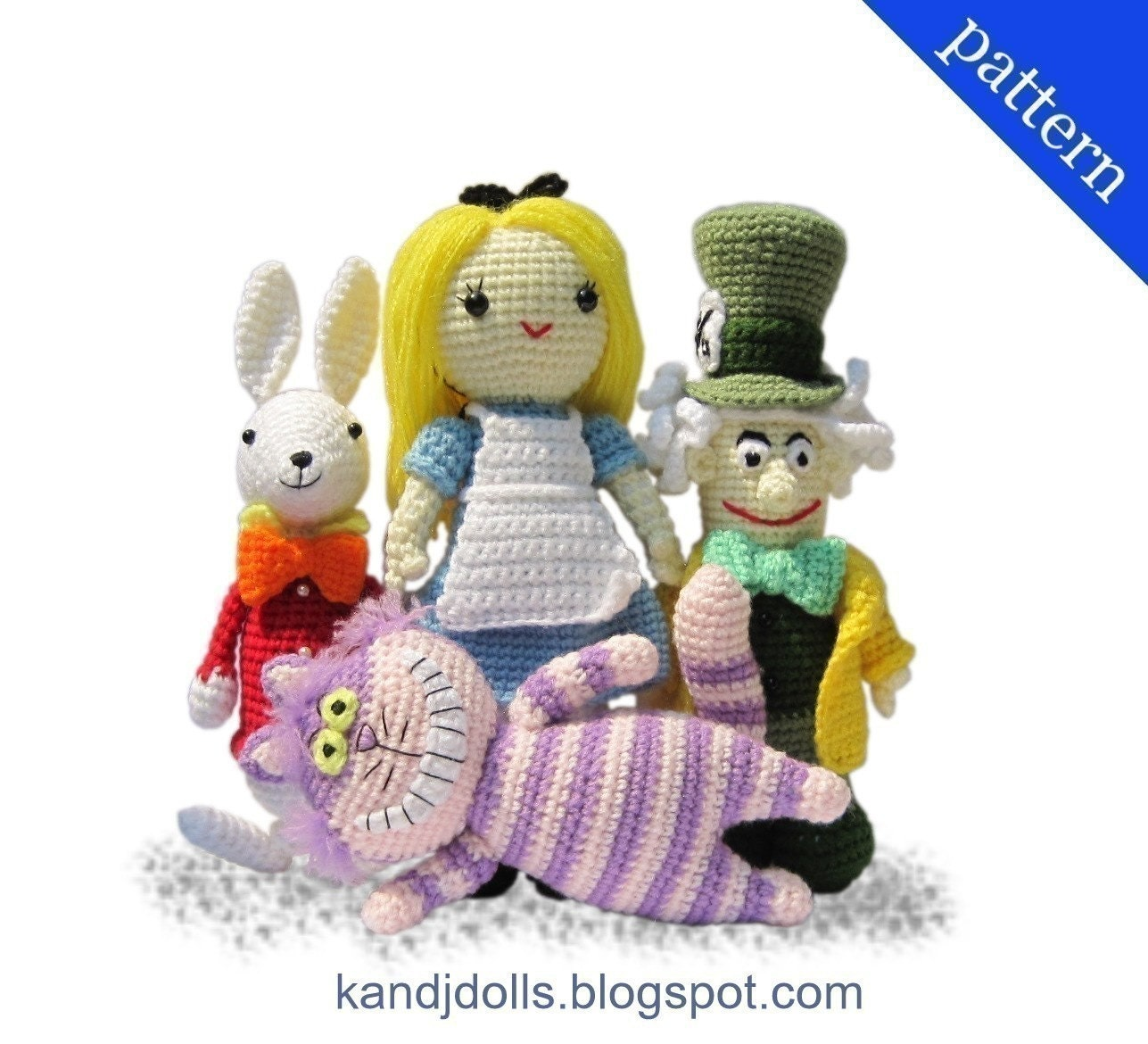 Alice in Wonderland, Mad Hatter, White Rabbit and Cheshire Cat - PDF ...