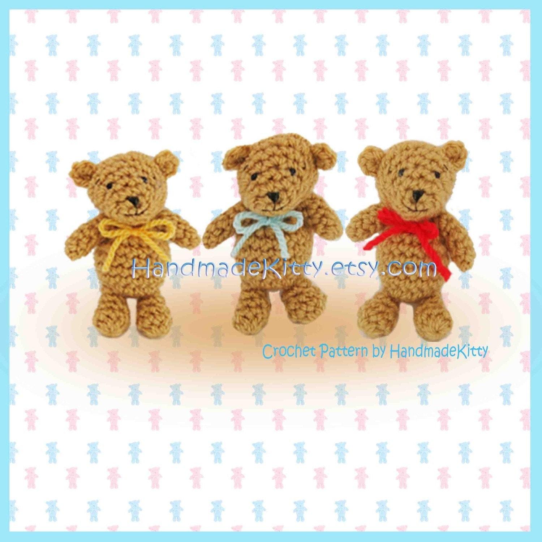 Uncategorized Three Little Bear handmadekitty goldilocks and the three little bears amigurumi pdf crochet pattern by handmadekitty