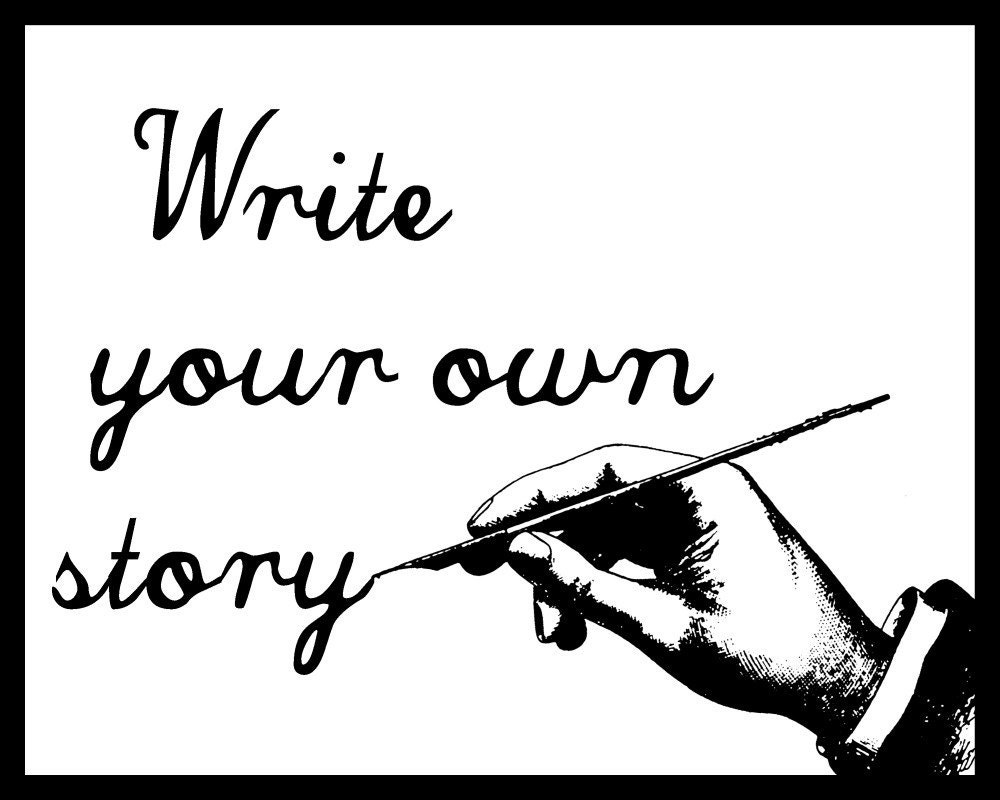 Write your own story print artwork by Lori Ramotar HipHeart
