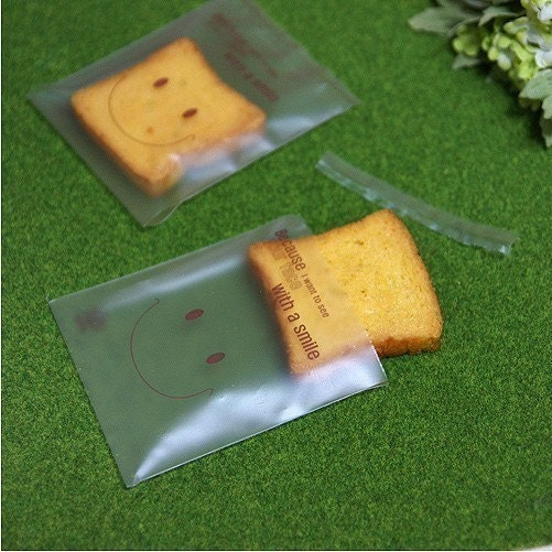 25 Smile Man Translucent OPP Wrapping Bag - S size(85 x 100mm)