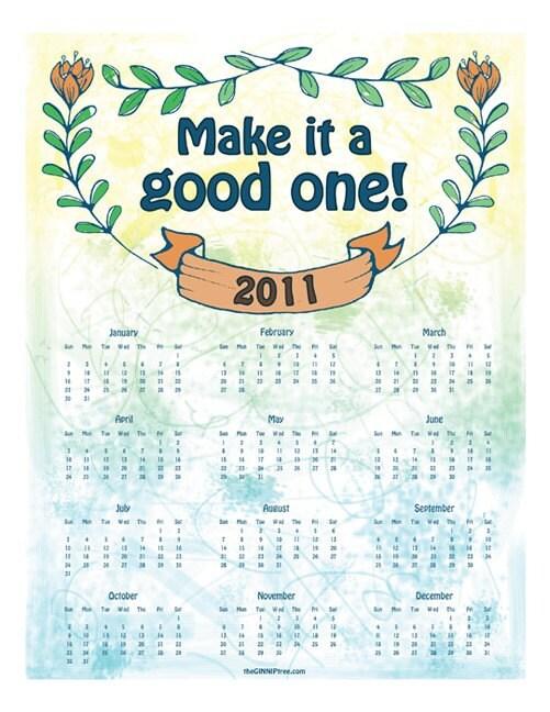 2011 Calendar by GINNIP