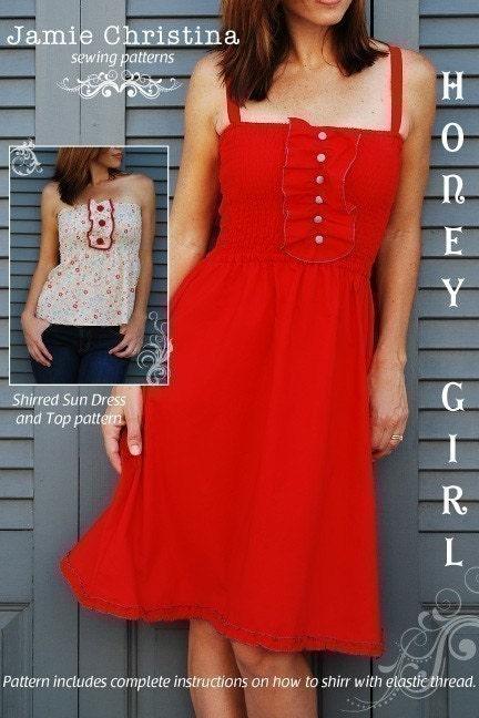 Honey Girl shirred dress