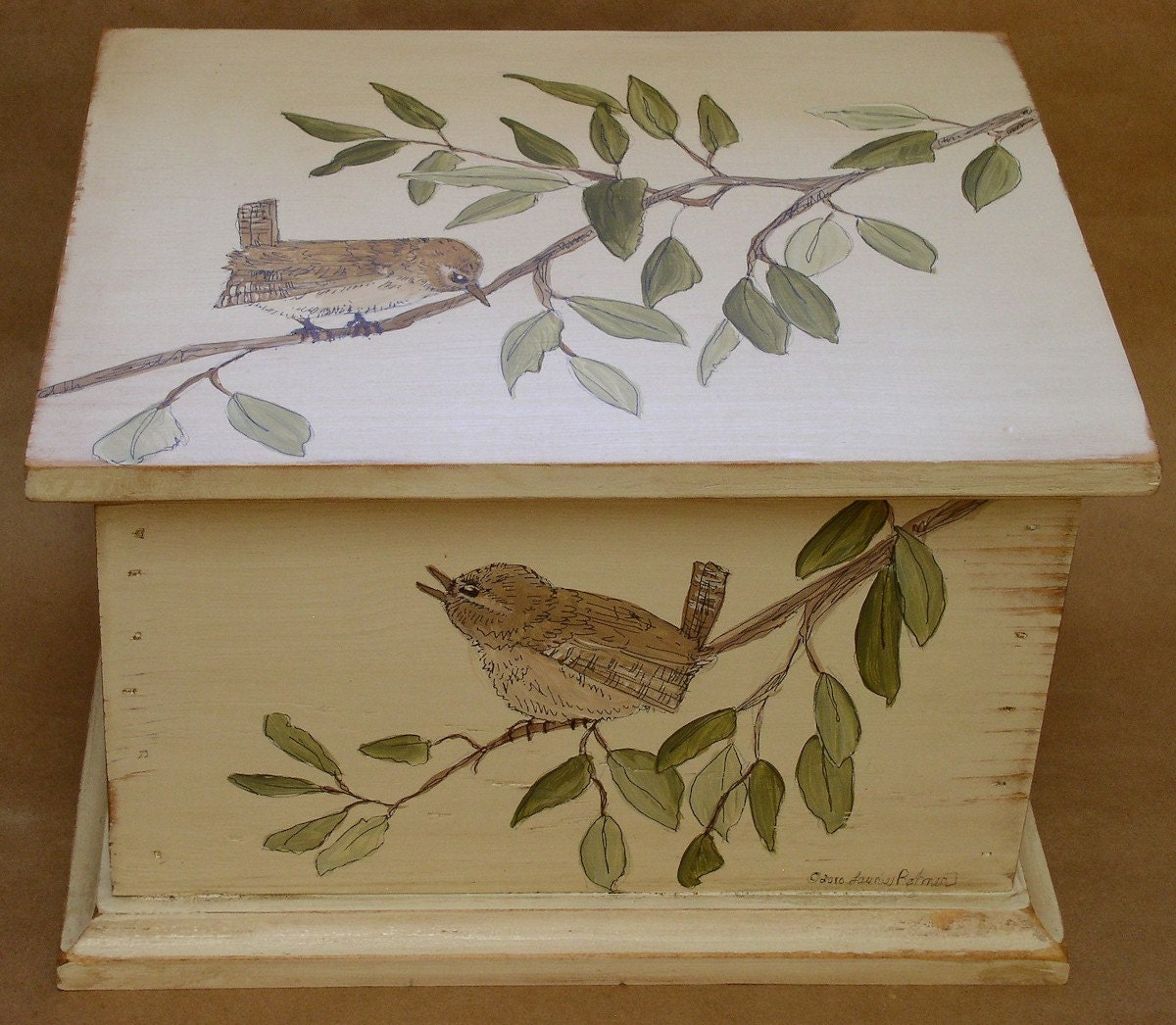 Hand Painted Box From The Cottage Home Farmhouse