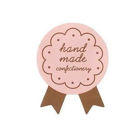 Cute Medal Sticker - Pink 15pcs