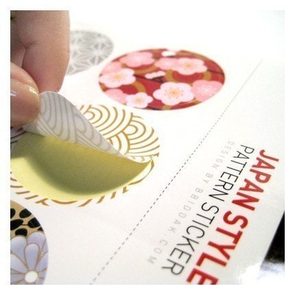 Japanese Traditional Style Pattern Sticker