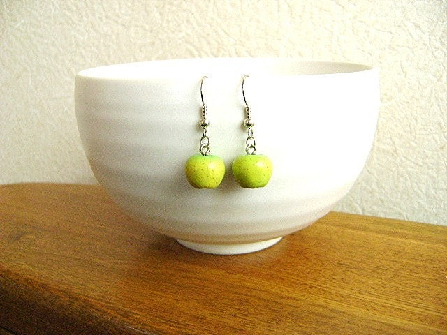 Delicious Green Apple Earrings