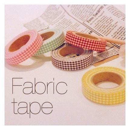 Mini Check Fabric Tape - 15mm single roll