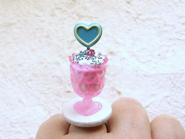 Cute Heart Sundae Ring