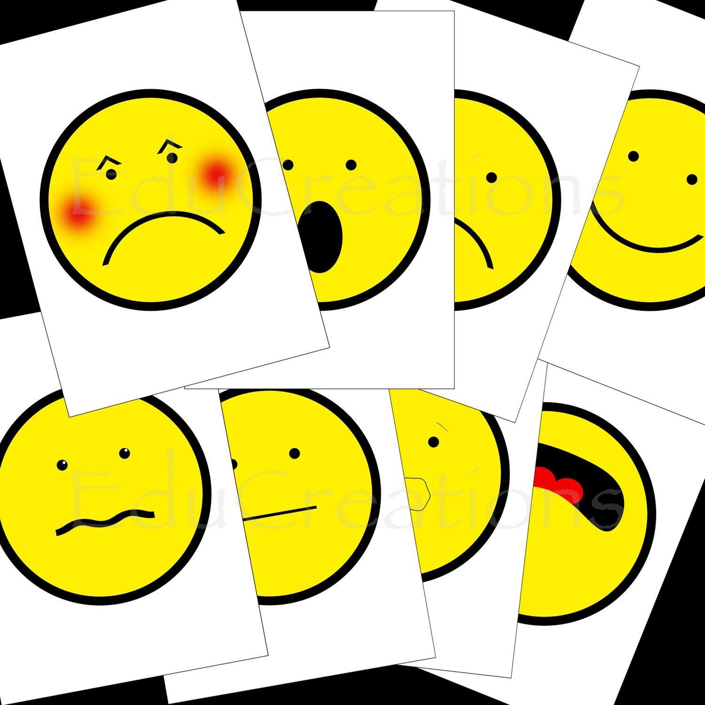 printable feelings adjectives flashcards pdf free printable baby sign ...