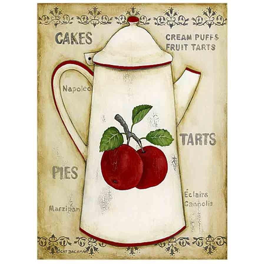 Decoupage accesorios de cocina and blanco y negro on - Laminas para cuadros de cocina ...