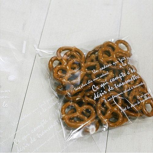 60 Self Sealing Clear Cello Polypropylene Bags (Set of 3sizes bag)
