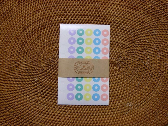 Ring Label Sticker Set for Tag (4sheet)