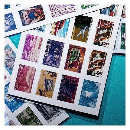 Postage Stamp Collection Sticker Set - Europe