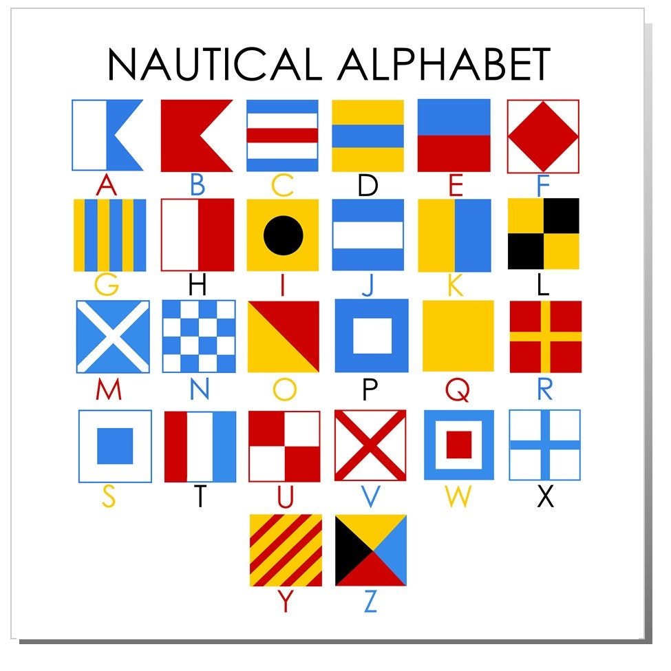 Nautical Alphabet mini-flag | Good to know | Pinterest