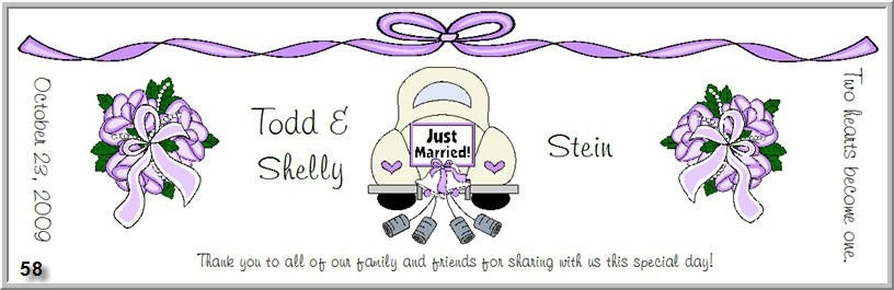 Personalized DIY Printable Wedding Bridal Shower or Anniversary Labels for