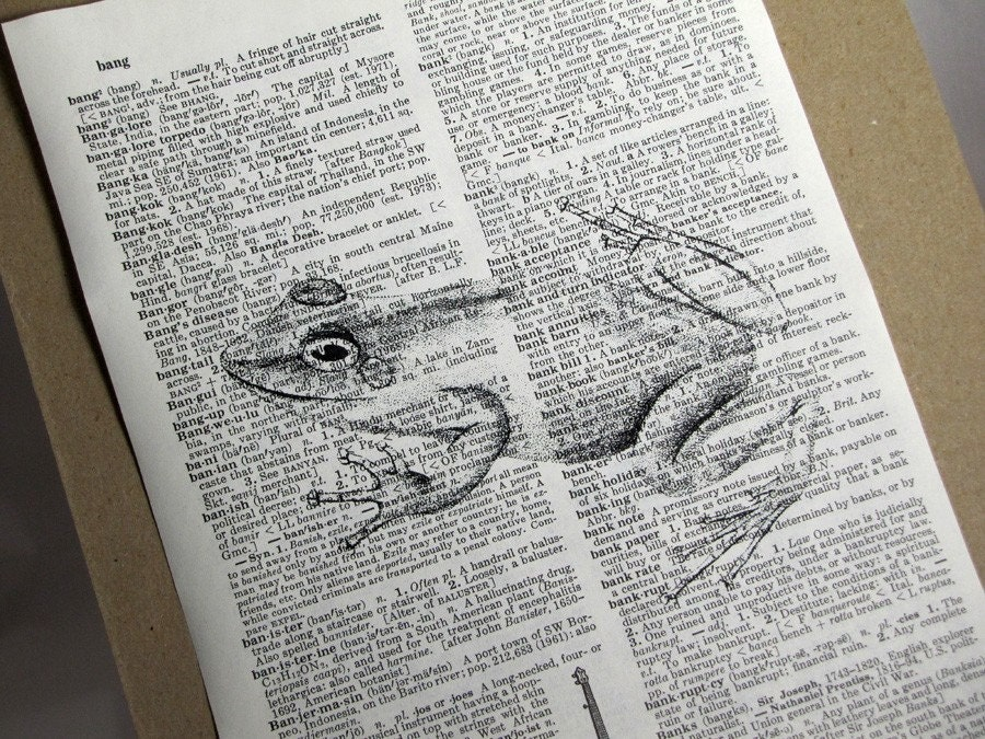 Frog Dictionary Print by camispaperie on Etsy