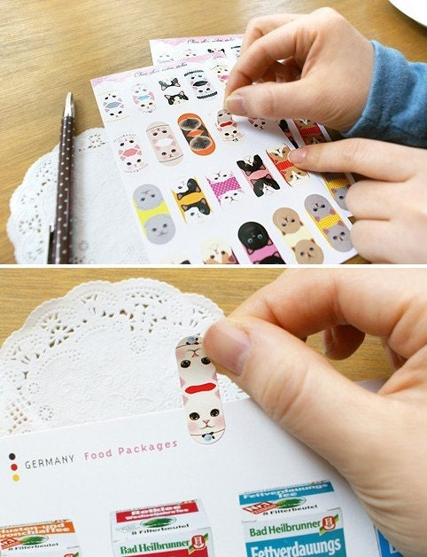 Choo Choo index sticker (total 2sheets)
