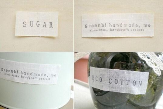 Eco Cotton Deco Tape - size medium single roll (Blank)