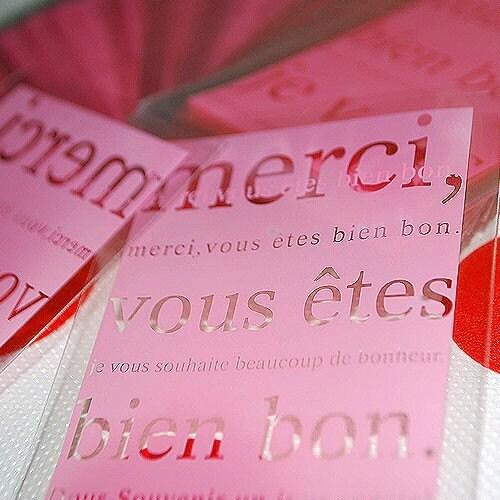 Merci Plastic bags - Pink color