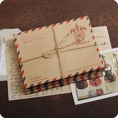 souvenirs de voyage - Mini Size Airmail Envelopes (PRAHA 10 sheets)