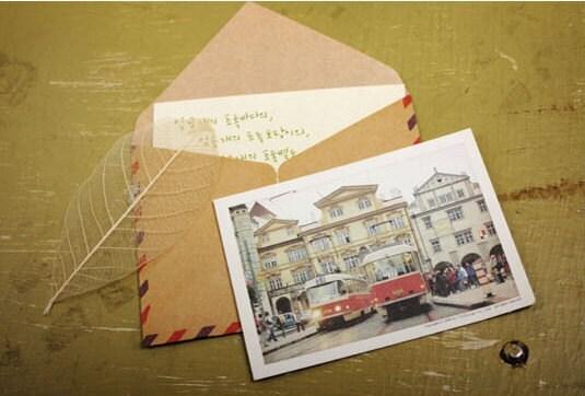 souvenirs de voyage - Mini Size Airmail Envelopes (LONDON 10 sheets)