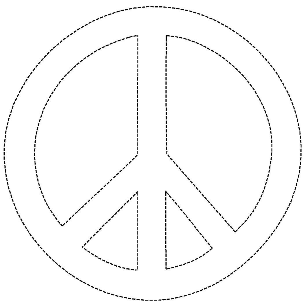 Hand Peace Symbol Coloring Page Coloring Pages Coloring Pages Of Peace Signs
