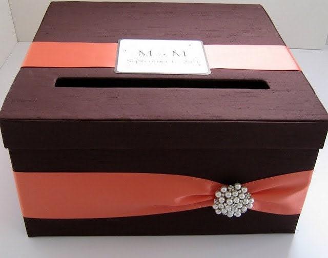 Card box for wedding Gift Card Holder Money Box Custom Made