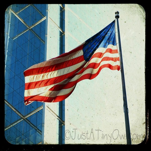 waving american flag background. Waving American Flag in