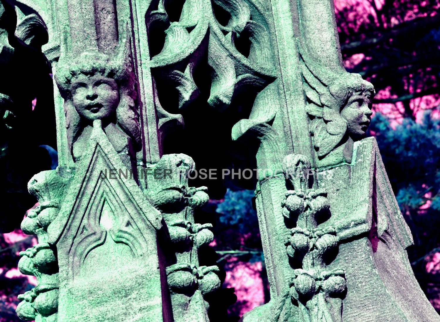 Angel Statue Cemetery Photo