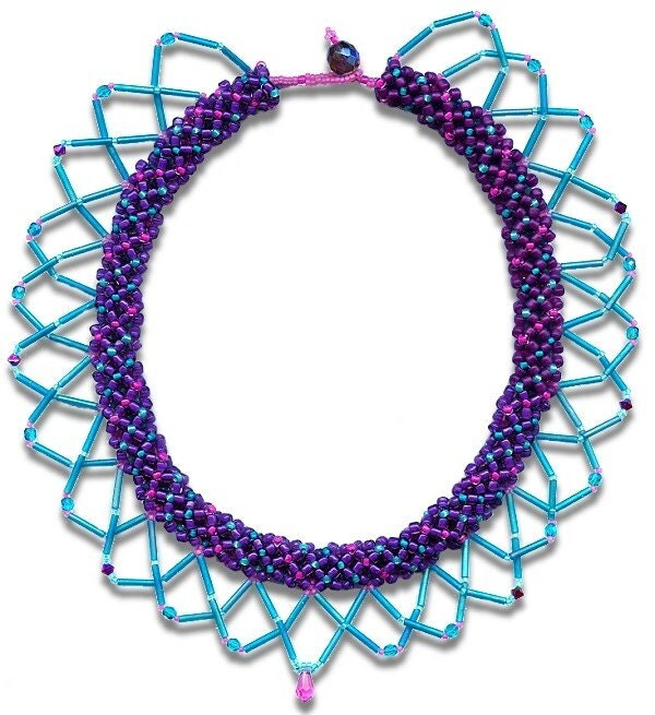 Purple Perfection princess length necklace