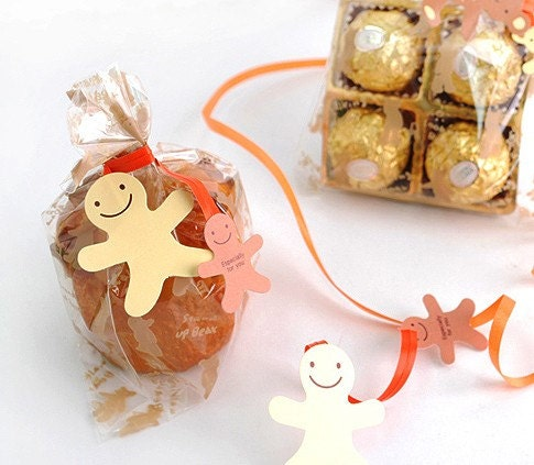 10 Ginger bread Man Twist Ties
