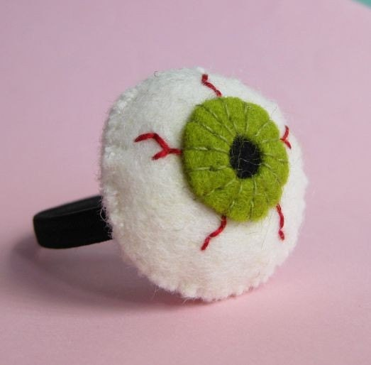 eyeball hair tie, yourorgangrinder, spincushions