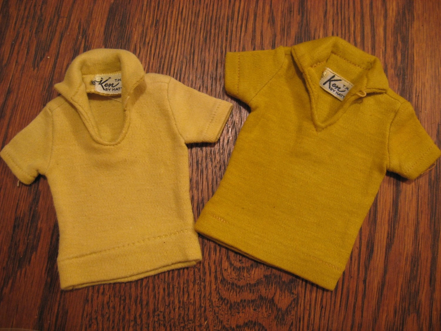 Vintage Barbie Clothes ..Ken TWO Polo Shirts 1962. From BarbarosasVintage